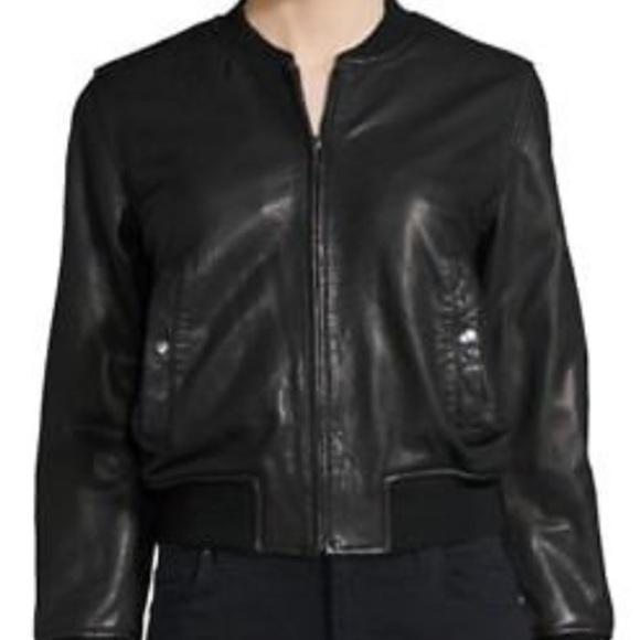 cfa47d417 Isabel Marant Leather Bomber Jacket,Size 36
